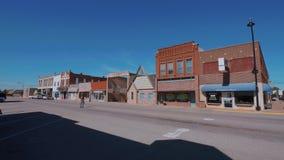 Det härliga centret av Stroud - en liten stad i Oklahoma lager videofilmer