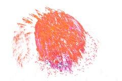 Det härliga färgrika fyrverkerit isolerade skärm för berömslump Arkivbild