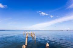 Det härliga havet landskap det naturliga havet i sommar arkivbilder