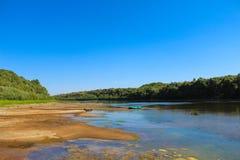 Det härliga landskapet är inte floden royaltyfri bild