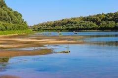 Det härliga landskapet är inte floden royaltyfri fotografi