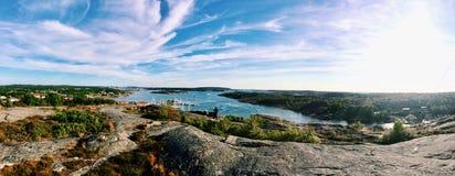 det härliga landskapet av Grebbestad, Sverige Royaltyfri Bild