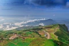 Det härliga landskapet på Phu badar Berk Royaltyfria Bilder