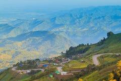 Det härliga landskapet på Phu badar Berk Royaltyfria Foton