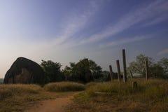 Det härliga landskapfotoet på fördärvar och det forntida stället Royaltyfria Foton