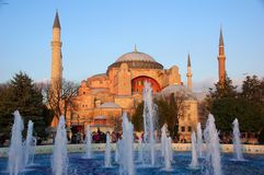 Det härliga museet av Hagia Sophia i moderna Istanbul Royaltyfria Bilder