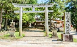 Det härliga stället i Nara omgav av naturen, Japan arkivfoton