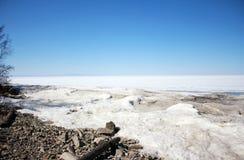 Det hårda klimatet av Lake Baikal Royaltyfri Foto