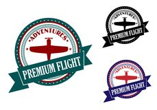Det högvärdiga flyget äventyrar symbol Royaltyfri Foto