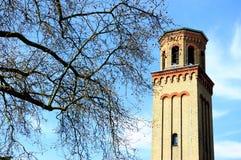 Det högväxta tornet i Kew arbeta i trädgården i London, England Arkivfoto