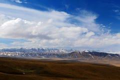 Det höstliga landskapet av den Qinghai - Tibet platån Royaltyfria Foton