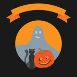Det halloween vektorkortet Arkivfoto
