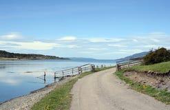 Det Harberton godset är den äldsta lantgården av Tierra del Fuego och en viktig historisk monument av regionen Arkivbild