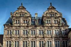 Det Heidelberg slottet är ett berömdt fördärvar i Tyskland och landmark av Heidelberg royaltyfria bilder