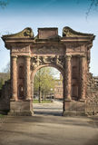 Det Heidelberg slottet är ett berömdt fördärvar i Tyskland och landmark av Heidelberg arkivbild
