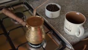 Det hem- kaffet i ugn arkivfilmer