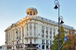 Det historiska lyxiga hotellet Bristol, Warszawa (Polen) Royaltyfria Bilder