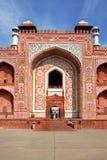 _ Det historiska och arkitektoniska komplexet av Sikandra gravvalvet av den Mughul kejsaren Akbar Royaltyfri Fotografi