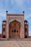 _ Det historiska och arkitektoniska komplexet av Sikandra gravvalvet av den Mughul kejsaren Akbar Arkivfoto
