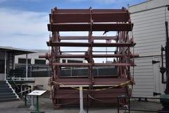 Det historiska skovelhjulet för nu från ångaren Petaluma, 1 arkivfoton