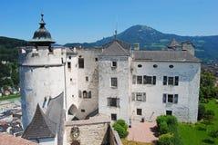 Det Hoher materielet av den Salzburg slotten Arkivfoto
