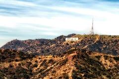 Det Hollywood tecknet från Griffith Park, montering Hollywood, Los Ange royaltyfria bilder