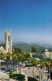 Det Hollywood tecknet på kullen angeles los förenade tillstånd Royaltyfri Foto