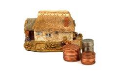 det home husförsäkringlånet intecknar Royaltyfri Bild