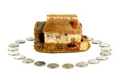 det home husförsäkringlånet intecknar Royaltyfri Fotografi