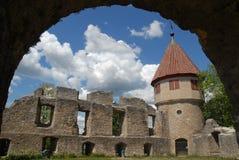 Det Honberg slottet fördärvar Arkivfoto
