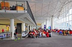 Det Hong Kong internationell flygplatslogiet utfärda utegångsförbud för Royaltyfri Bild