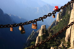 det huangshan berg sörjer arkivfoto
