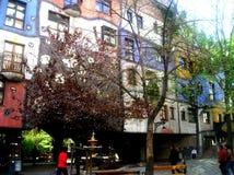 Det Hundertwasser huset Wien Royaltyfria Bilder