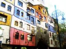 Det Hundertwasser huset Wien Royaltyfri Foto
