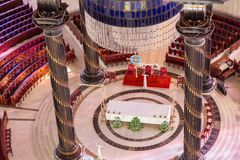 Det huvudsakliga altaret av basilikan av vår dam av fred Arkivbild