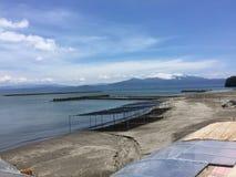 det ibusuki Japan kagoshima havet kunde Arkivfoton