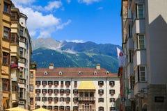 Det iconic guld- taket (Goldenes Dachl), Österrike Fotografering för Bildbyråer