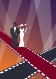 Flott Hollywood 2 royaltyfri illustrationer