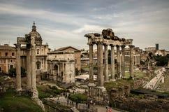 Det imperialistiska forumet i Rome, Italien Arkivbilder