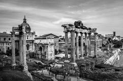 Det imperialistiska forumet i Rome, Italien Arkivfoto