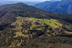 Det imponerande berget av rutten vid El långt Royaltyfri Bild