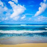 Det indiska havlandskapet Härlig sikt av ett hav Arkivfoton