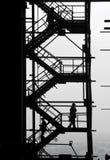 det industriella folket avbildar silhouettes Arkivfoton