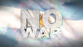 det inget begreppet kriger argentina flagga Vinkad högt detaljerad tygtextur illustration 3d vektor illustrationer