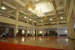 Det inomhus av den stora korridoren av folket i Peking, Kina Royaltyfria Bilder