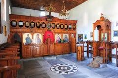 Det inomhus av kyrkan för St Tommaso på Berat Royaltyfri Bild