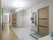 Det inre hallet i lägenheten Royaltyfria Bilder