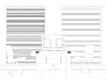 Det inre kontoret hyr rum vektorn Royaltyfria Bilder