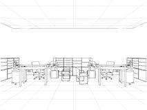 Det inre kontoret hyr rum vektorn Royaltyfri Foto