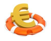 Det isolerade euroet undertecknar in livboj stock illustrationer